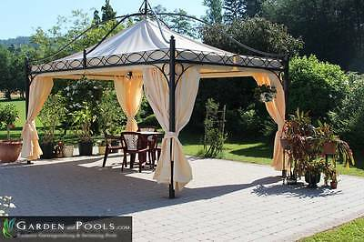 leco metall pavillon sommer residenz 5x3m markise seitenteile partyzelt festzelt eur. Black Bedroom Furniture Sets. Home Design Ideas