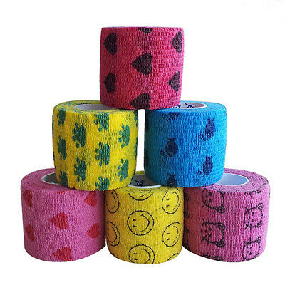 Medical First Aid Treatment Self-Adhesive Elastic Bandage Gauze Tape Stretch Hot