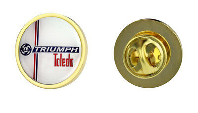 Triumph Toledo Leyland Logo Clutch Pin Badge Choice of Gold/Silver