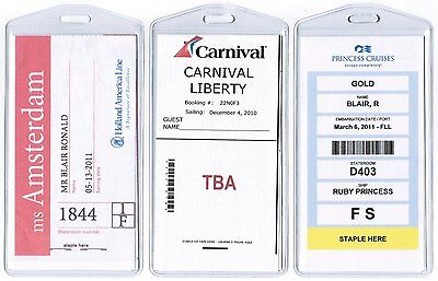 Cruisetags, STANDARD Cruise Ship Luggage Tags (8 Pack) (20008) NEW BRAND CXX