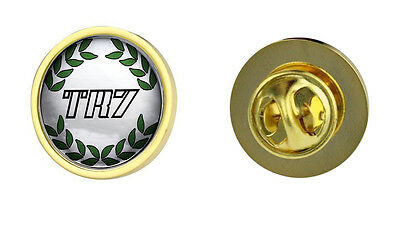 Triumph TR7 Green Wreath Logo Clutch Pin Badge Choice of Gold/Silver