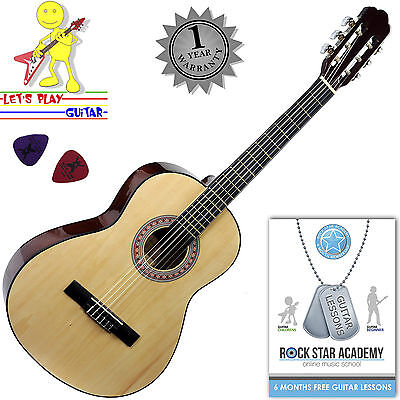 Stretton Payne 3/4 Size Nylon String Classical Child Kids Childrens Guitar Wood