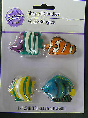Wilton - Tropical fish candles x 4 - Finding Dory/Nemo
