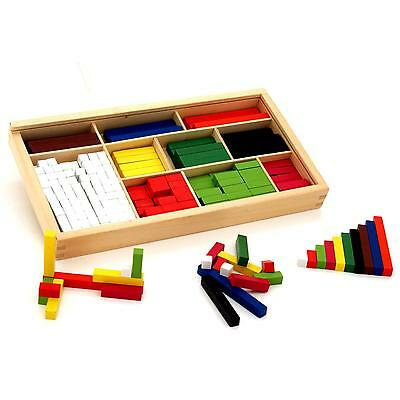 Viga Wooden Educational Maths Blocks Set Introductory Wood Cuisenaire Rods