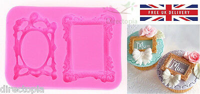 3D Picture Frame Silicone Mould, Sugarcraft, Fondant, Chocolate, Cake Topper