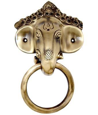 Lord Ganesha Mask Door Knocker / Handle Ganesh Statue Solid Brass Home Decor New