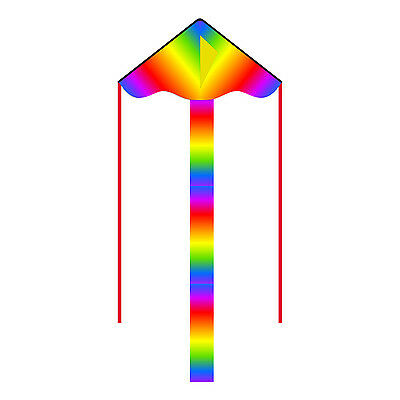 HQ Simple Flyer Childrens Kite Rainbow Colours Easy to Fly Single Line Fun Kids