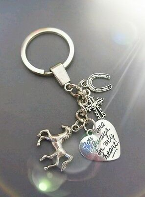Horse loss memory key ring/bag charm
