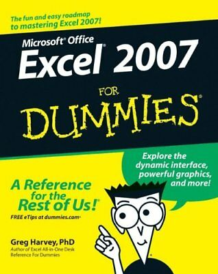 Excel 2007 For Dummies by Harvey, Greg Paperback Book The Cheap Fast Free Post
