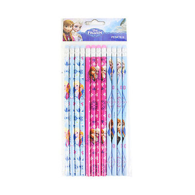 New Disney Frozen Princess Anna & Elsa School Supplies 12pcs Set Pencils