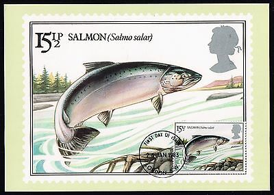 1983 British River Fishes PHQ cards set (SG#1207/1210)