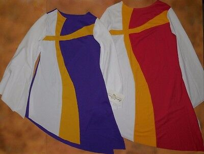 NWT Praise Dance Liturgical bell sleeve wrap top White child Ladies sizes 85070
