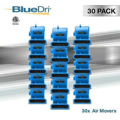 30 Pack BlueDri® ONE-29 Air Mover Carpet Dryer Blower Fan High CFM Low Amp BLUE