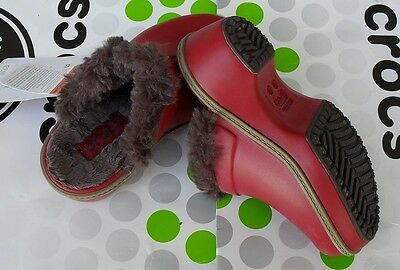 CROCS CHEERFUL CHRISTY COBBLER CLOG SLIP ON MAMMOTH SHOE~Red Brown~C 11~NWT