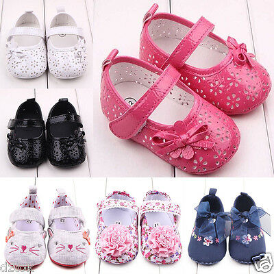 Toddler Kids Baby Shoes Cute Solid Lovely Bowknot Flower Sandals Newborn Shoes