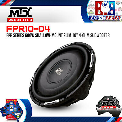 "Mtx Fpr10-04 Fpr Series 600W Shallow-Mount Slim 10"" 4-Ohm Subwoofer Car Ute Sub"