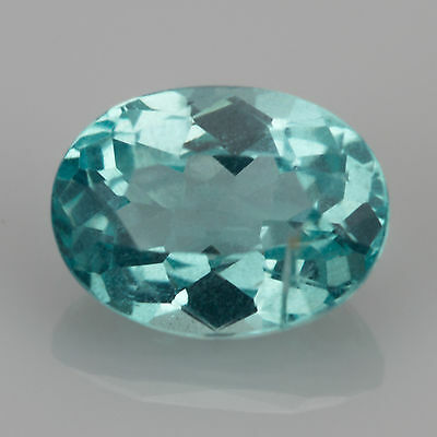 1.13 ct Apatite Oval cut 7.41x5.47mm Si1 Natural blue loose gemstone