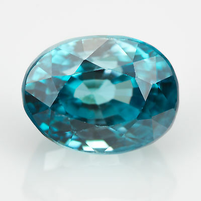 2.41 ct Blue Zircon Oval cut 7.57x5.68mm Si1 Natural loose gemstone