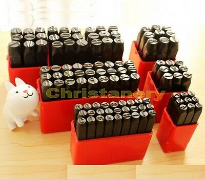 Steel Punch Stamp Die Set Metal 9pcs Numbers or 27 pcs Letters for selection