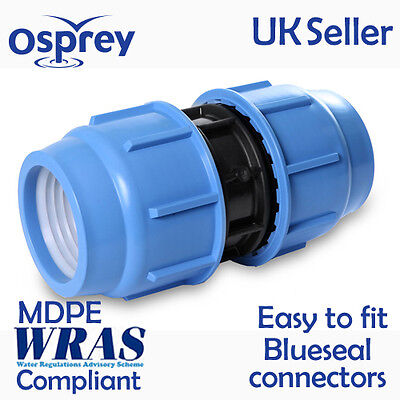 MDPE Compression Coupling Fitting for Water Pipe in various sizes