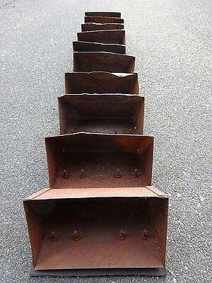 Vintage Elevator Grain Buckets Vintage Rustic Metal on Conveyor Belt MailBox Art