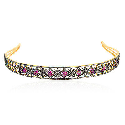 Ruby Diamond 925 Sterling Silver Designer Hair Band Women Jewellery