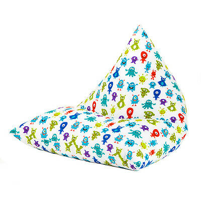 Monsters Aliens Large Childrens Kids Pyramid Bean Bag Chair Gaming Beanbag Gamer
