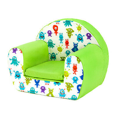 Monsters Aliens Childrens Kids Comfy Foam Chair Toddlers Armchair Seat Reading