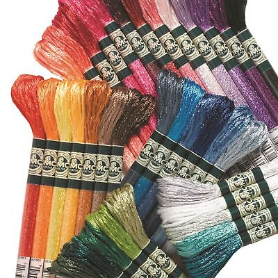 DMC Satin Cross Stitch Threads/Skeins S211-S5200 100% Rayon 8m