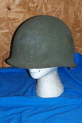 WWII Front Seam M1 Helmet Original Real US Army USGI Marine Combat Old D-Day