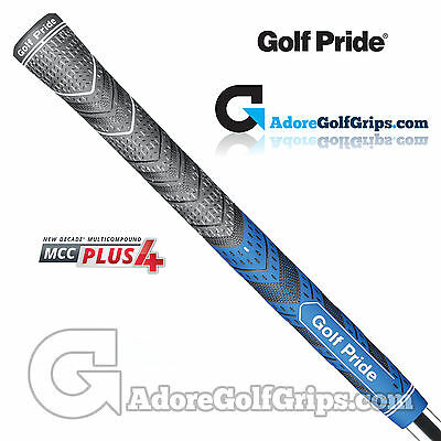 Golf Pride New Decade Multi Compound MCC Plus 4 Midsize Grips - Black / Blue x 1