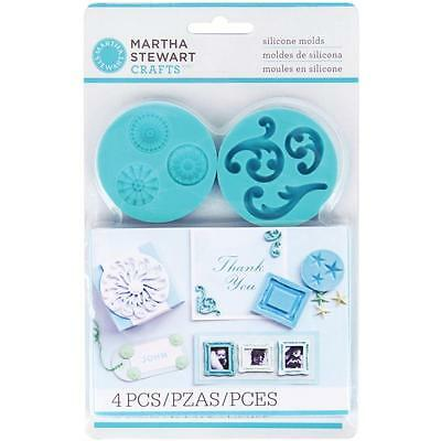 Martha Stewart Crafter's Clay Silicone Molds Decorat.Design Silikon Formen 4/Pkg