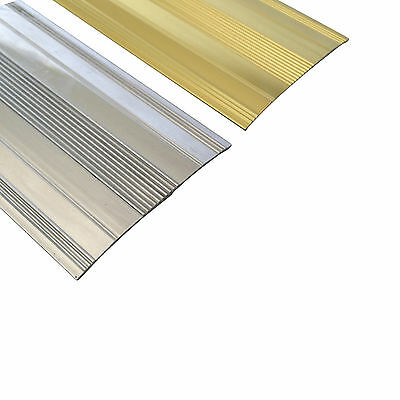 Extra Wide Cover Strip Carpet Metal Door Bar Trim - Threshold - Brass/Silv​er