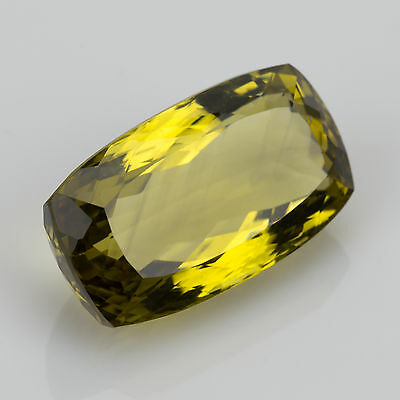32.91ct large olive yellow Citrine 25.69x14.59mm VVS Natural loose gemstone