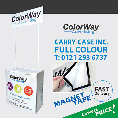 Printed Promotion Counter with Magnet Tape-Pop Up Banner Stand Portable Display