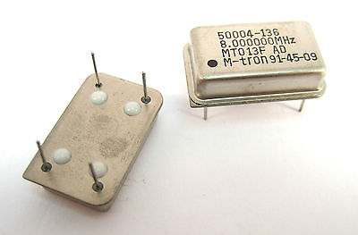 8-Mhz Crystal Clock Oscillators: DIP Case Style: Lots of 2: Great Price
