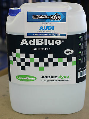 AdBlue 20L + FREE Spout 20 LTR - for Audi AdBlue Diesel Engines 20 Litre