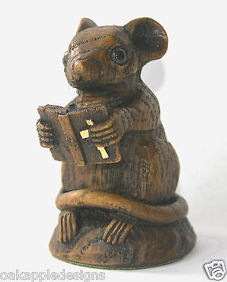 Church Mouse Holy Bible Ornament Cute Unique Mice Gift Unique Collectable Prayer