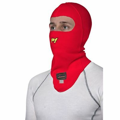 P1 Racewear Open Face Nomex Balaclava Red Motorsport FIA 8856-2000 Approved