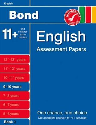 Bond English Assessment Papers 9-10 Years Book 1 by J. M. Bond 140851625X