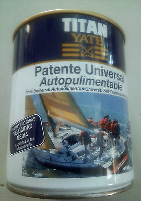 Patente Autopulimentable Titan Yate 750 Ml Velocidad Media. 5 Colores Disponible