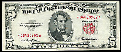Fr. 1533 1953-A $5 Five Dollars *star* Legal Tender United States Note Gem Unc