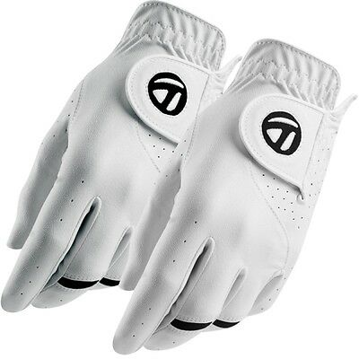 New 2017 Taylormade 2-Pack All Weather Leather Palm Golf Gloves