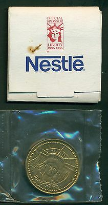 1986 Nestle Bronze Coin Thanks for Statue of Liberty Restoration,Factory Sealed