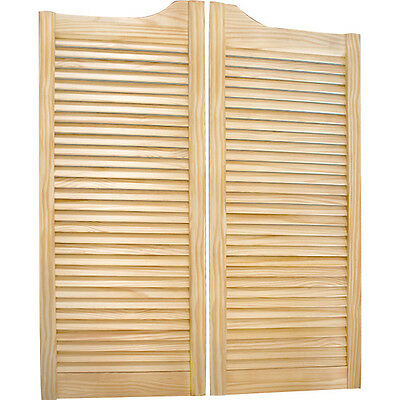 Louvered Solid Pine Saloon Doors - Old Western Style Swinging Bar Pub Cafe Doors
