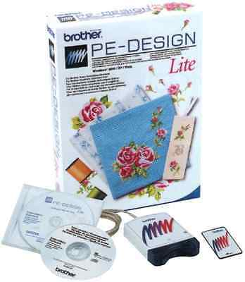 Brother PE Design Lite - Embroidery Digitizing Software Plus Card & Writer Box