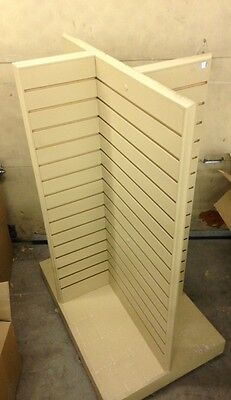 Wooden Slat Wall Display Shelf w/ 12 Shelves