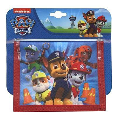 Wallet Bifold Non Woven Paw Patrol Chase Rocky Marshall Boy Black Red NWT