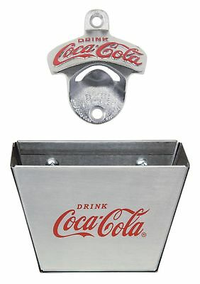 TableCraft Coca-Cola CC341361M Wall Mount Bottle Opener with Cap Catcher New