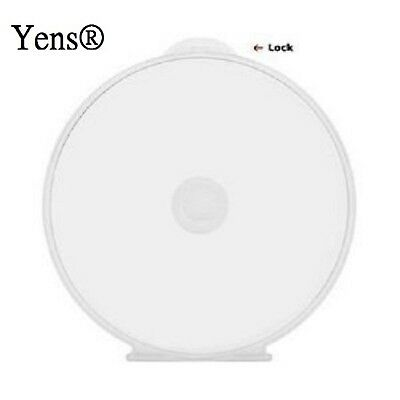 Yens 50Cshell 50 Round Clamshell CD DVD Case Clam Shells with Lock Clear New